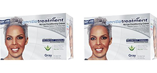 Gentle Treatment Hair Relaxer ([ PACK OF 2] Gentle Treatment No Lye Conditioning Crème Relaxer for Gray Hair)