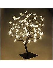 45cm /60cm Albero Luminoso Decorativo Lampada Fiori di Ciliegio con72/90Luci Natalizie a LED