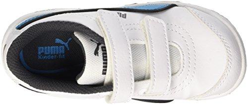 Puma Stepfleex Fs Sl V Inf, Sneaker Children and Teenagers (Gymnastics), Bianco/Atomic Blue, 8.5 EU