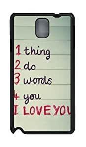1 thing 2 do 3 words 4 you PC and For Iphone 5/5S Case Cover Black