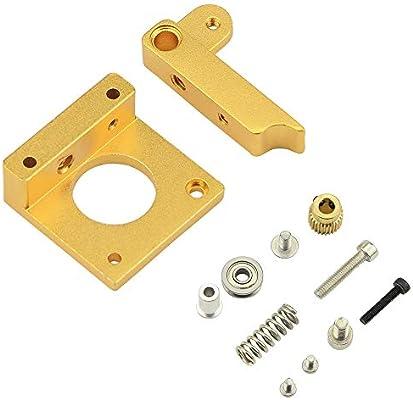 ARCELI All Metal Left MK8 Extrusora Aluminio Block Block DIY Kit ...