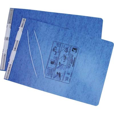 Acco Presstex Hanging Data Binder - 6quot; Binder Capacity - 11quot; Width x 14.87quot; Length Sheet Size - Post Fastener - Presstex - Blue - 1 Each by ACCO Brands