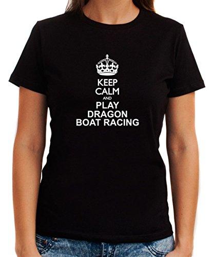 Keep calm and play Dragon Boat Racing Women T-Shirt