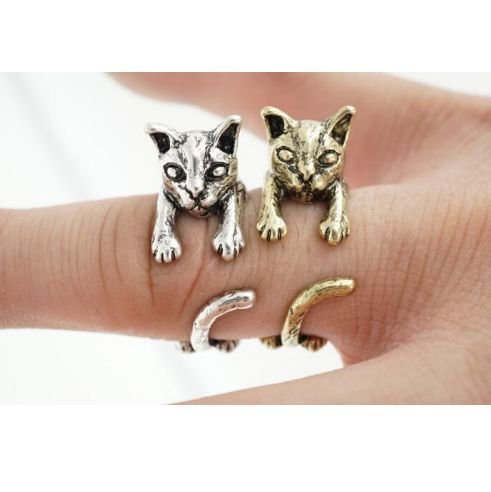 Amazon.com: Min 1pc 2016 Cat Ring Anel Anillos Gato Bague anillo gato Animales Animal Cat Rings For Women Bague Wholesale JZ317: Home & Kitchen