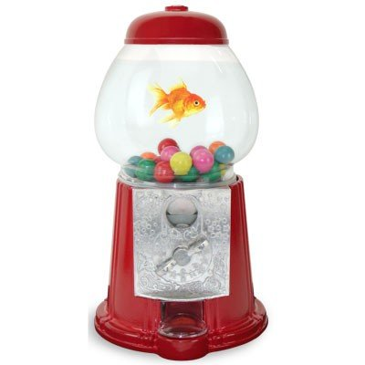 Classic Gumball Machine Fishbowl Aquarium - Fun Unique One Fish Habitat Kit