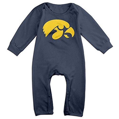 Price comparison product image OOKOO Baby's University Of Iowa Bodysuits Outfits Navy 6 M
