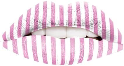 Edit - Tatuaje para labios temporal color rosa y blanco a ...