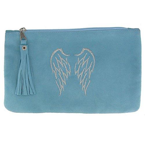 Gioello Wings in Poulettes Verde Ricamata Camoscio Les Due Colore Angel Acqua Borsa f4rwqfU
