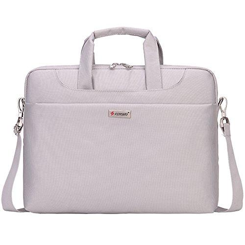 Laptop Shoulder Bag for 14 Inches Laptop Computer Awland Multi-functional Nylon Water Resistant Shoulder Carry Bag Briefcase Laptop Messenger Notebook Sleeve Case Cover Handbag - Light Gray (14' Notebook Handbag)