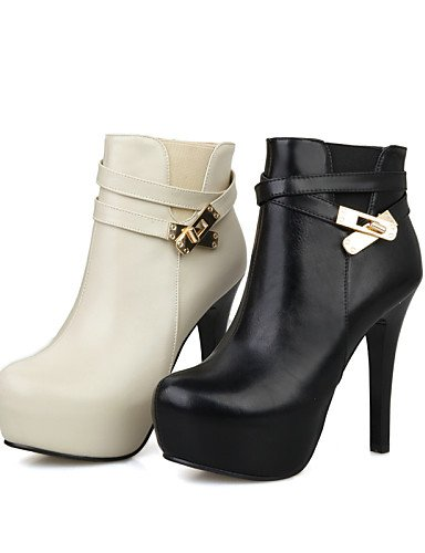 Zapatos Y us8 5 La Semicuero Uk5 Stiletto us7 A Botas Mujer Beige Cn39 Xzz Black Moda Cn38 Uk6 Fiesta Noche 5 De Tacón Negro Eu39 Black Vestido Eu38 dwWqxTqOF