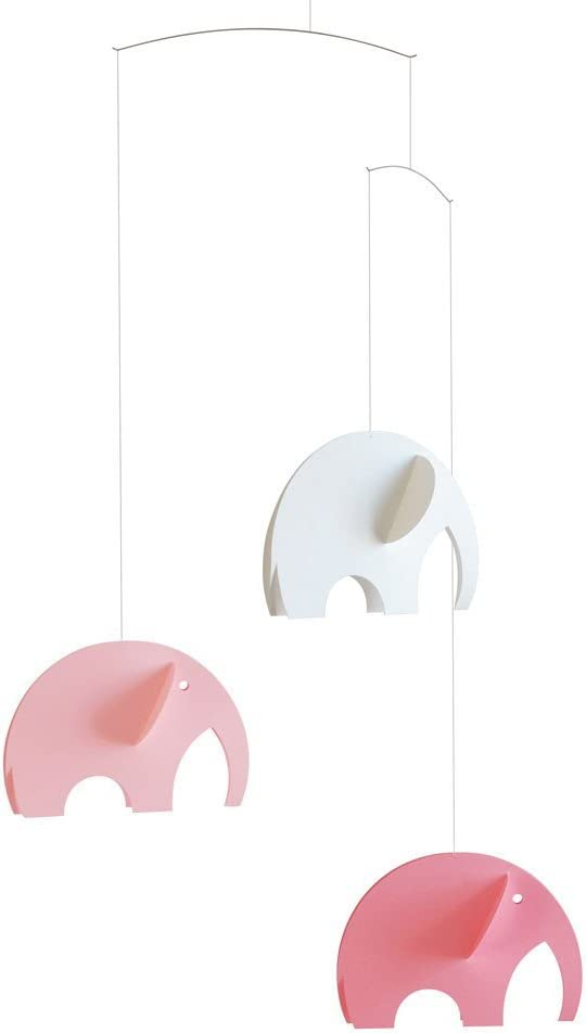 Olephant Mobile Pink by Flensted Mobiles Flensted Mobiles Nursery Mobiles