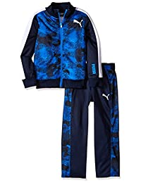 PUMA Boys 2 Piece Zip up Track Jacket and Pant Set