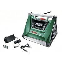 Bosch DIY Akku-Radio PRA Multipower, ohne Akku, Aux-In Kabel, Netz-Adapter, 2x AAA Batterien (18V, Radiofrequenzbereich AM  522 – 1.611 kHz)