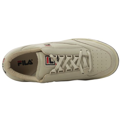 Fila Menns Opprinnelige Trenings Lea Klassisk Sneaker Hvit Og Krem navy