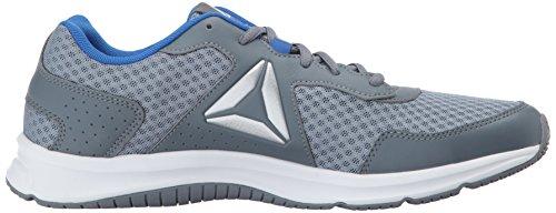 Reebok Herren Express Runner Sneaker Meteor Grey / Asteroid Staub / Vital Blau / Silber / Weiß