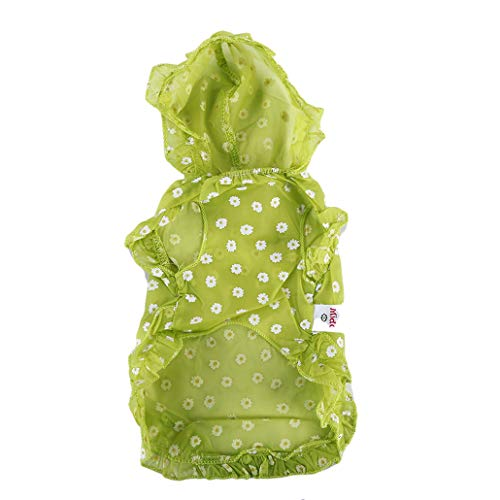 (HAOWANG Dog Sun Shield Clothing Summer Sun Protection Pet Solar Protection Clothes Yellow Green Large)