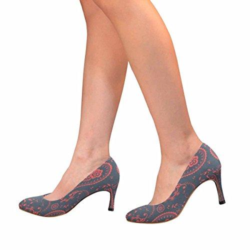 Paisley Paisley Di Scarpe Da Donna Con Scarpe Tacco Alto Di Alta Moda