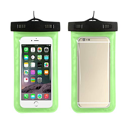 Refaxi Universal Waterproof Phone Holder Touch Screen Smart Transparent Outdoor Swimming Diving Mobile Phone Dry Bag (Green) ()