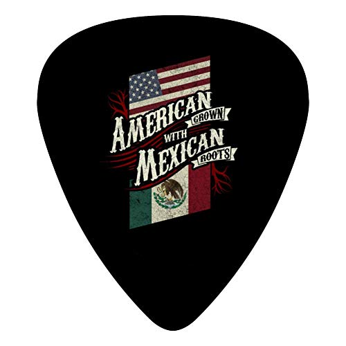 American Grown With Mexican Roots Didi Guitar Selection 12 / Set Celluloid Medium Picks 0.46Mm / 0.71Mm / 0.96Mm Musical Instrument Bass Guitar Player