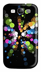 Samsung Galaxy S3 I9300 Case,Samsung Galaxy S3 I9300 Cases - Patterns Color Dots PC Polycarbonate Hard Case Back Cover for Samsung Galaxy S3 I9300