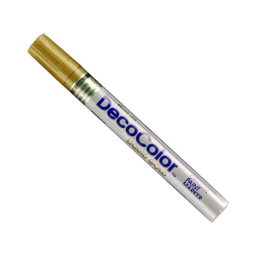 Deco Point - Uchida 300-C-GLD Marvy Deco Color Broad Point Paint Marker, Gold