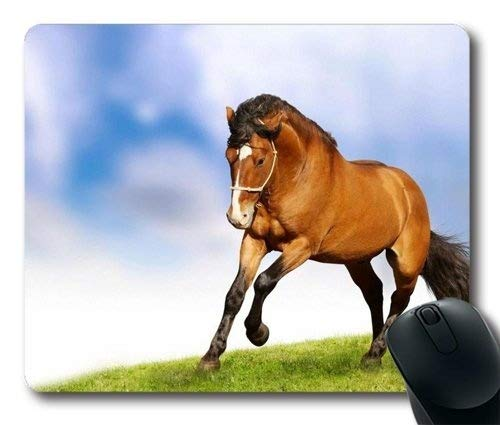((Mouse pad) Arabian Horse Equine Galloping Customized Mouse Pad Rectangle Mouse Pad Gaming Mouse mat PM0925207 )