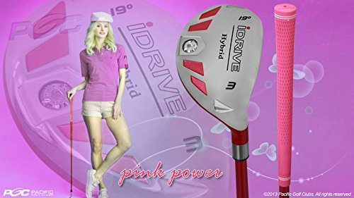 Petite Women's iDrive Golf Club Hybrid #3 Lady Flex Right Handed New Rescue Utility ''L'' Flex Club Perfect for Petite Shorter Women 4'10 to 5'3'' Tall by Integra