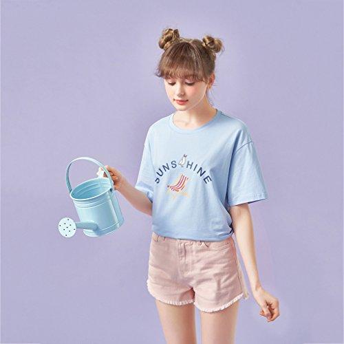 estivi Pink cotone denim Pantaloncini multicolore lunghezza a Pantaloni in Macaron sottili in mezza Donna FqCCZw