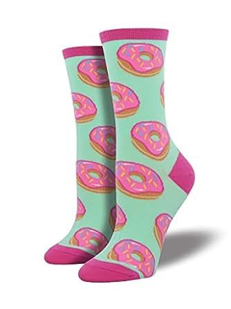 Socksmith Women's Crew Socks (1 Pack, Donuts - Mint)