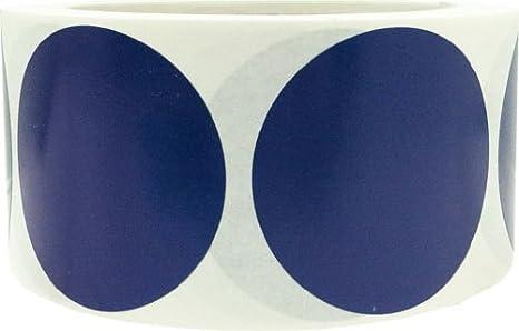 51 mm 2 Pulgadas Redondas Azul Brillante Circulo Punto Pegatinas 500 Etiquetas en un Rollo