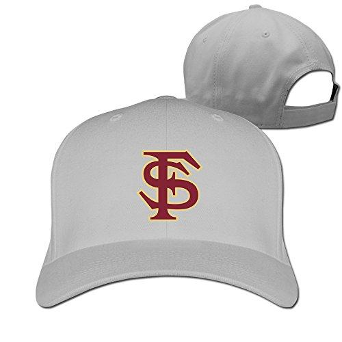 Yesher Particular Florida State University - FSU Logo Baseball Cap - Adjustable Hat - Ash