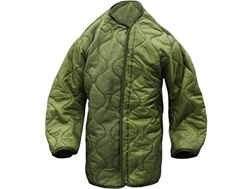 Extreme Cold Weather Fishtail Parka Liner - Quilted - Olive Drab Green - Genuine Army Issue Small (Cold Parka Extreme)