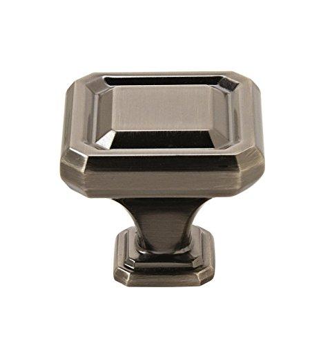 Amerock BP36547GM Wells 1-1/2 in (38 mm) Length Gunmetal Cabinet Knob (Gunmetal Hardware)