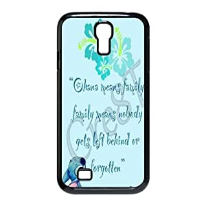 DIY Lilo and Stitch Ohana means family Hard Plastic phone Case Cove For SamSung Galaxy S4 Case JWH9154353
