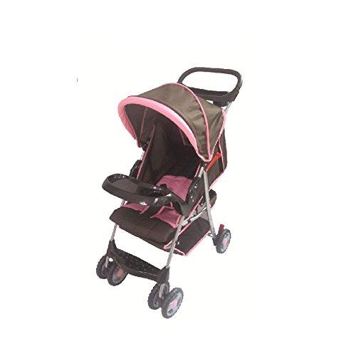 AmorosO Convenient Baby Stroller, Brown/Pink