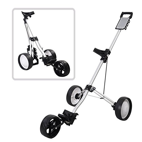 MD Group Golf Cart Push Trolley Pull Wheel Foldable Club Swivel Holder Lightweight Aluminum by MD Group (Image #8)