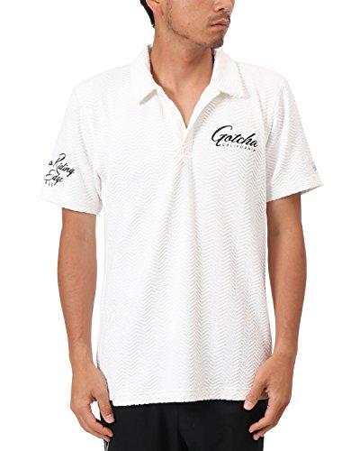 [ガッチャ ゴルフ] GOTCHA GOLF ポロシャツ 吸水速乾 ブリスター ジャカード ポロ 182GG1221 ホワイト XXXLサイズ