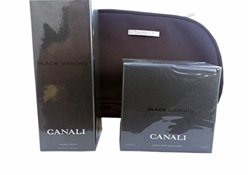 CANALI BLACK DIAMOND GENTLE AFTER SHAVE 3.4 fl oz 100 ml and SHOWER CREAM 200 ml 6.8 fl oz Made in ITALY. Simply the BEST, FREE TRAVEL POUCH by Canali