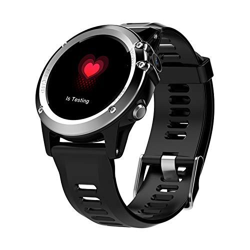 SZHAIYU Smart Watch Android 4.4 IP68 wasserdicht 1.39″MTK6572 BT 4.0 3G WiFi GPS SIM Pulsuhr Luftdruck für iPhone Smartwatch Männer tragbare Geräte (Silver)