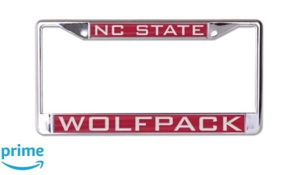 NCAA North Carolina State University Wolfpack Inlaid Metal License Plate Frame 2-Tag Corners /…