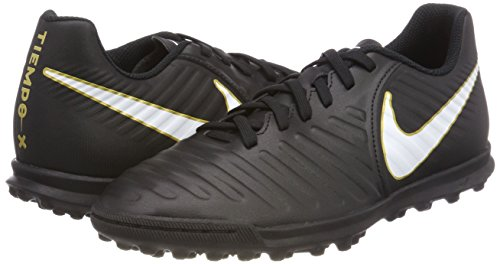 IV Rio Nike Tiempox Fútbol EU Zapatillas Black White Negro TF 5 Hombre 002 38 para de 5g5Erwxq