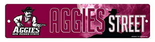 NCAA New Mexico State Aggies 16-Inch Plastic Street Sign Décor Aggies Sign