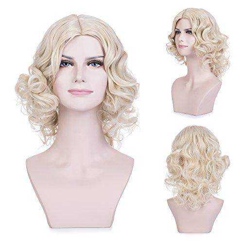 MelodySusie Short Blonde Curly Wig - Attractive Women
