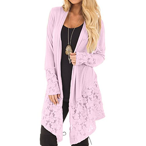 LISTHA Lace Long Sleeve Cardigan Womne Autumn Open Cape Kimono Casual Coat Tops