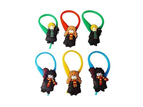[AVIRGO 6 pcs Colorful Soft Zipper Pull Charms for Jacket Backpack Bag Pendant Set # 254 - 4] (Dobby Harry Potter Costumes)