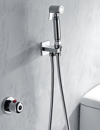 MEIREN Bathroom/Toilet Handheld Shattaf Bidet Shower Spray, With Thermostatic Faucet Valve And 150 cm Stainless Steel Hose by MEIREN
