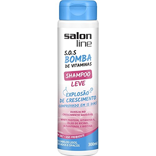 Amazon.com : Linha Tratamento (SOS Bomba de Vitaminas) Salon Line - Shampoo Leve Explosao De Crescimento 300 Ml - (Salon Line Treatment (Vitamin Bomb SOS) ...