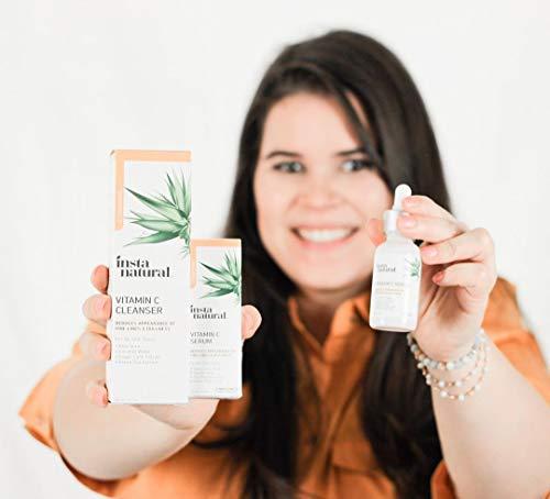 InstaNatural Vitamin C Serum with Hyaluronic Acid & Vit E - Natural & Organic Anti Wrinkle Reducer Formula for Face - Dark Circle, Fine Line & Sun Damage Corrector - Restore & Boost Collagen - 1 oz