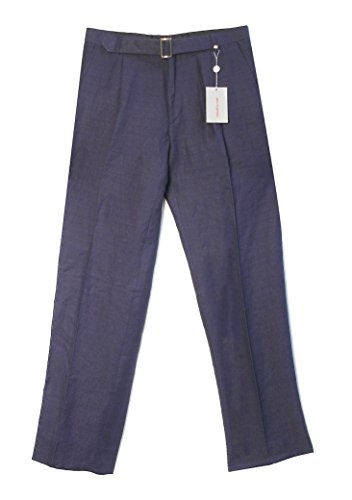 Vintage Versace Classic Dark Blue Men's Pants, 52 - Versace Vintage Mens