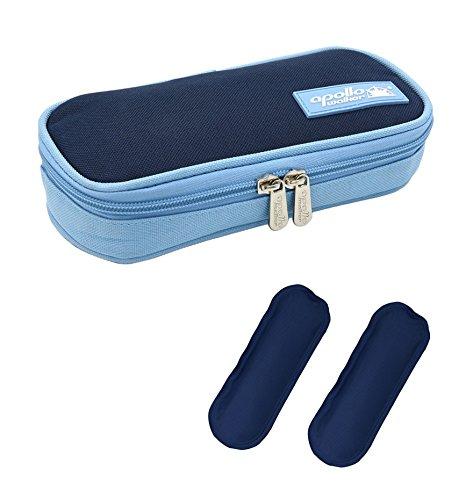 Goldwheat Portable Insulin Cooler Bag Diabetic Organizer Medical Travel Cooler Pack + 2 Ice Pack
